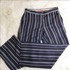 Max Mara Striped Wide Legged Trousers, Size 8